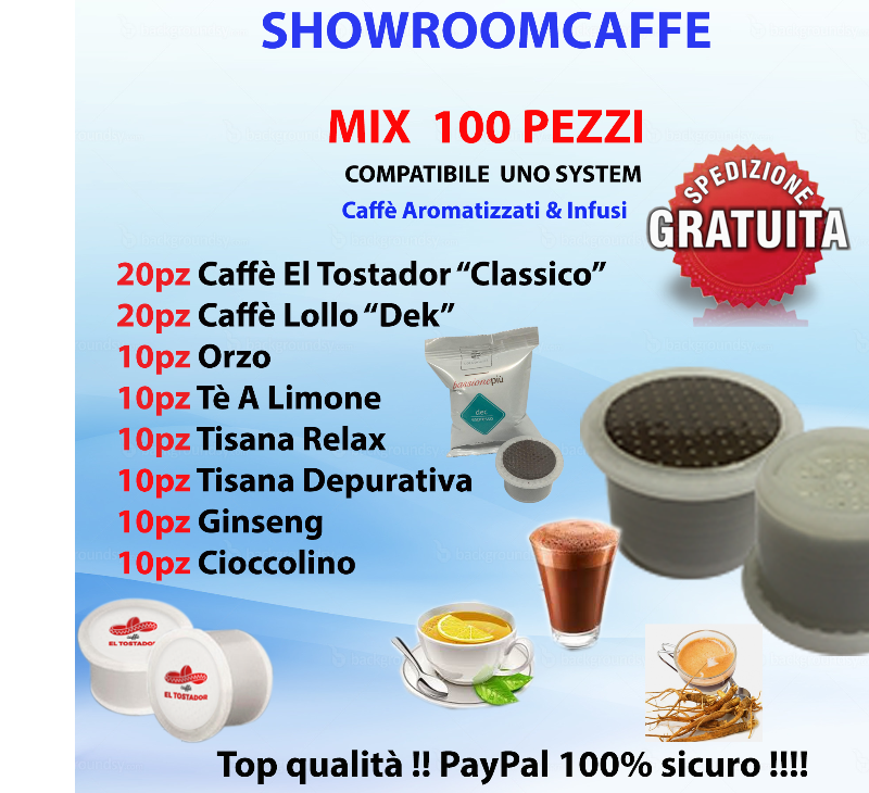 100-Capsules-MIX-Flavored-Coffees-&-Teas---Compatible-ONE-SYSTEM